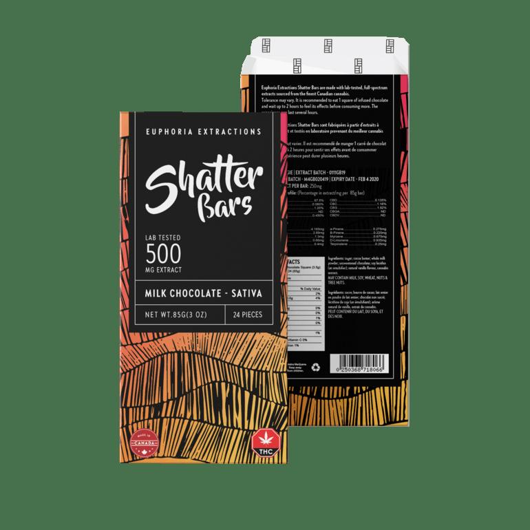 *Back In Stock * Milk Chocolate Sativa 500mg Shatter Bar