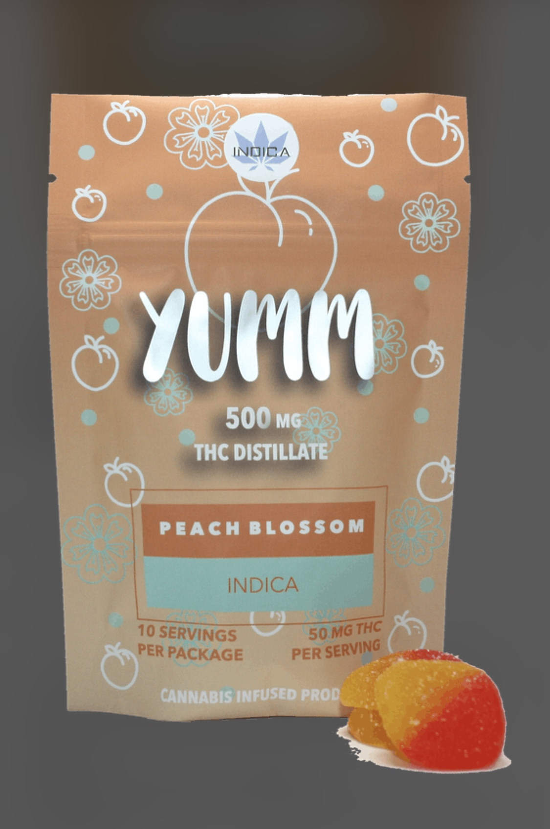 *New* Yumm-Peach Blossom 500mg Sativa or Indica