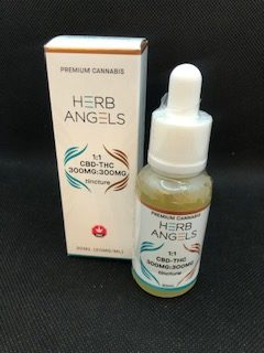 *New* Herbs Angels 1:1 CBD-THC 300mg:300mg Tincture $45