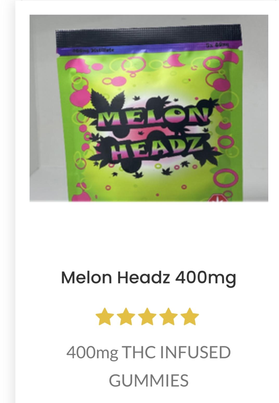 *New* Melon Headz  Gummies 400mg $15 each or 4 for $55